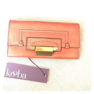 KOOBA Turn Lock Leather Wallet